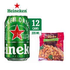 Heineken International Canned Lager Beer 12 Pack dan Fiesta Pok-Pok