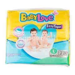 Baby Love Baby Pants Easy Tape L 72 Pcs