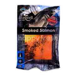 Live Well Sliced Smoked Salmon With Black Pepper