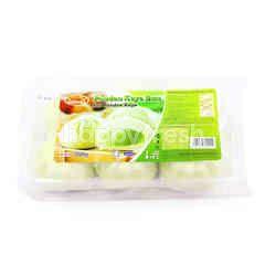 Double Snack Pandan Kaya Bun (6 Pieces)