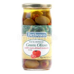 PARTHENON Stuffed Green Olives with Sun-Dried Tomato in Oil