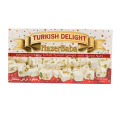 Hazerbaba Whipped Creamy Sultan Turkish Delight with Mixed Nuts Gluten & Gelatin Free