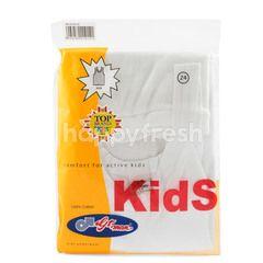 GT Man Kids White Singlet 302B Size 24