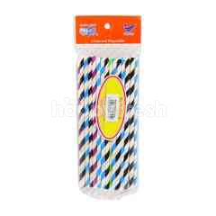 Tractor Chow Disposable Paper Straws (40 Pieces)