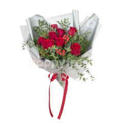 Heartis Bouquet Of 9 Red Rose