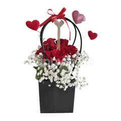 Emme Florist Vals Day Bag Rose - Red