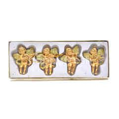 Gold Christmas Angels Ornaments