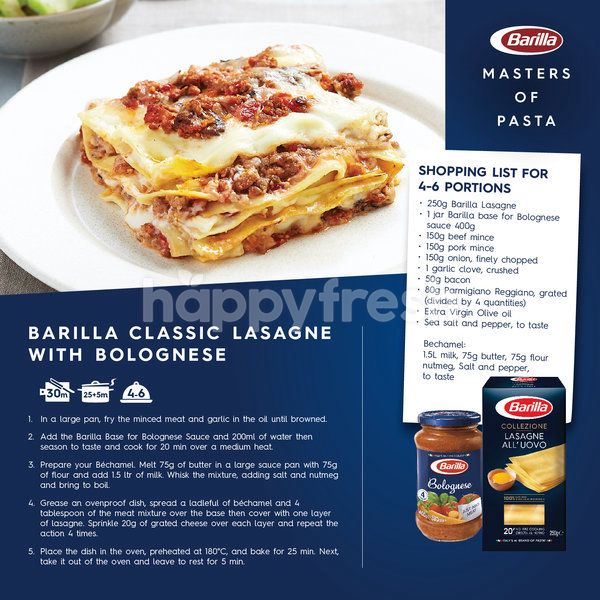 Barilla Pasta Lagsane With Egg