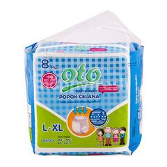 Oto Unisex Adult Diaper Pants L-XL (8 pieces)