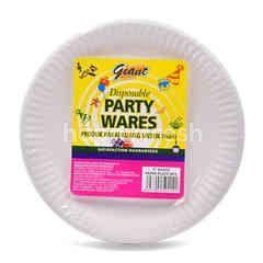 """Giant Disposable Party Wares 7"""" White Paper Plate (50 Pieces)"""