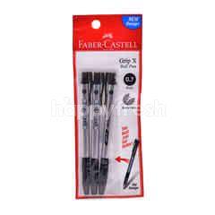 Faber Castell Grip X Ball Pen (3 Black Colours)