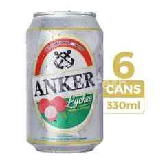 Anker Bir Rasa Leci 330ml (Kaleng) 6-Pack