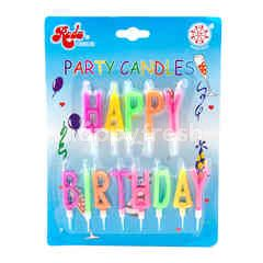 "Roda Party Candles ""Happy Birthday"""