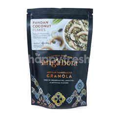 Singabera Pandan Coconut Flakes Artisan Handbaked Granola