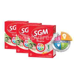 SGM Eksplor Presinutri 1 Plus 1-3 Years Powdered Honey Milk Triplepack