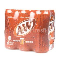 เอ แอนด์ ดับบลิว น้ำอัดลม รูทเบียร์ 325 มล. (แพ็ค)