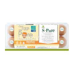 เอส-เพียว ไข่ไก่สด ขนาดกลาง (10 ฟอง)