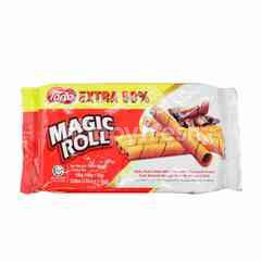 Torto Magic Roll Wafer Rolls Filled With Chocolate Flavoured Cream