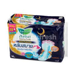 LAURIER Soft & Safe Extrac Protection Night Wings 35 cm 14 Pcs. (Sanitary Napkins)