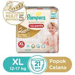 Pampers Premium Care Popok Celana Bayi Aktif Ukuran XL
