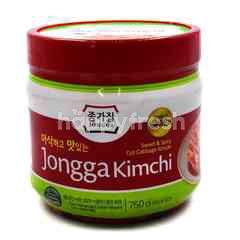Jongga Sweet & Spicy Cut Cabbage Kimchi