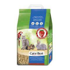 Cat's Best แคท เบส แคท เบส ทรายแมวเปลือกไม้สนแบบแท่ง 10 ลิตร กลิ่นสตรอเบอร์รี่