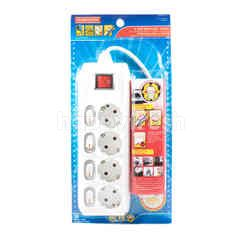 Kenmaster 4 Sockets Extension Cord SNI