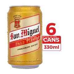 San Miguel Bir Pilsener Pale 330ml (Kaleng) 6-Pack