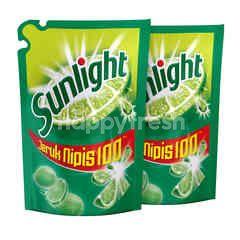 Sunlight Sabun Cuci Piring Jeruk Nipis 100 Twinpack
