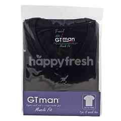 GT man Baju Dalam Lengan Pendek Kerah V Pria Ukuran L