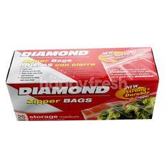 Diamond Zipper Bags Medium