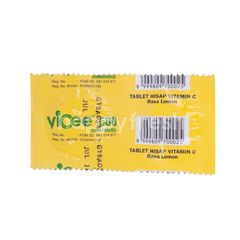 Vicee 500 Vitamin C Tablet Lemon