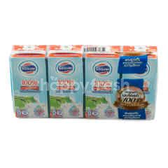 Foremost UHT Low Fat Milk Plain Flavour With High Calcium Pack 180 ml X 4 Pcs