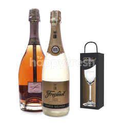 Freixenet Cordon Rosado + Elyssia Pinot Noir Get Riedel Flute Glass Free