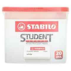 Stabilo Student Grade White Eraser (20 Pieces)