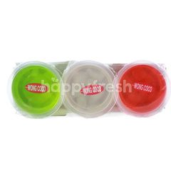Wong Coco Aloe Vera Jelly Lychee, Strawberry, Melon Flavor
