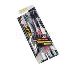 Systema Spiral Charcoal Toothbrush Original