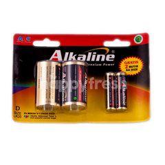 ABC Baterai Alkaline Ukuran 2D