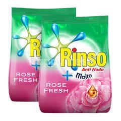 Rinso plus Molto Anti Noda Deterjen Bubuk Aroma Rose Fresh Twinpack