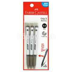 FABER CASTELL 0.5 Black Ball Pen (3 Pieces)