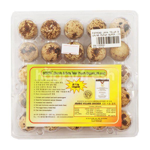 Farming Jaya Organic Quail Eggs