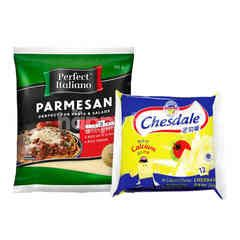 Fonterra Chesdale Cheddar and Perfect Italiano Parmesan Cheese Package