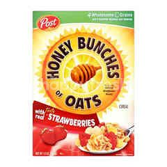 Post Honey Bunches Of Oats Cereal With Real Tasty Strawberries
