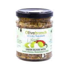 Olivebranch Chunky Tapenade Green Olives  With Goats Cheese, Rosemary & Chilli