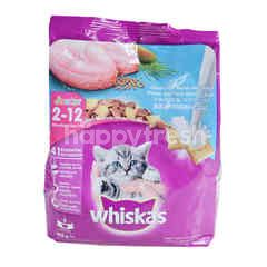 Whiskas Junior Makanan Anak Kucing Rasa Ikan Laut dengan Susu