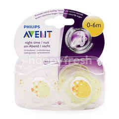 Avent 2 Night Time Orthodontic Soothers (2 Pieces)