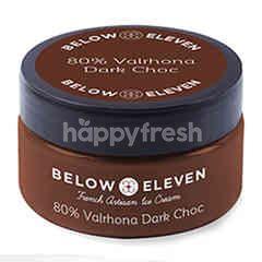 บีโลว อีเลฟเว่น ไอศกรีมถ้วย รสวาลโรห์นา ดาร์กช็อกโกแลต 80% 90 มล.