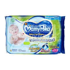 MamyPoko Baby Wipes Non Alcohol, Non Perfume, Soft & Antiseptic (48 wipes)