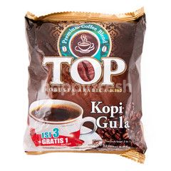 TOP Coffee Robusta Arabica Blend Instant Coffee with Sugar (4 sachets)