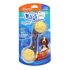 Hartz Bacon Flavoured Bounce & Bite Durable Chew Toy With Edible Center (L)
